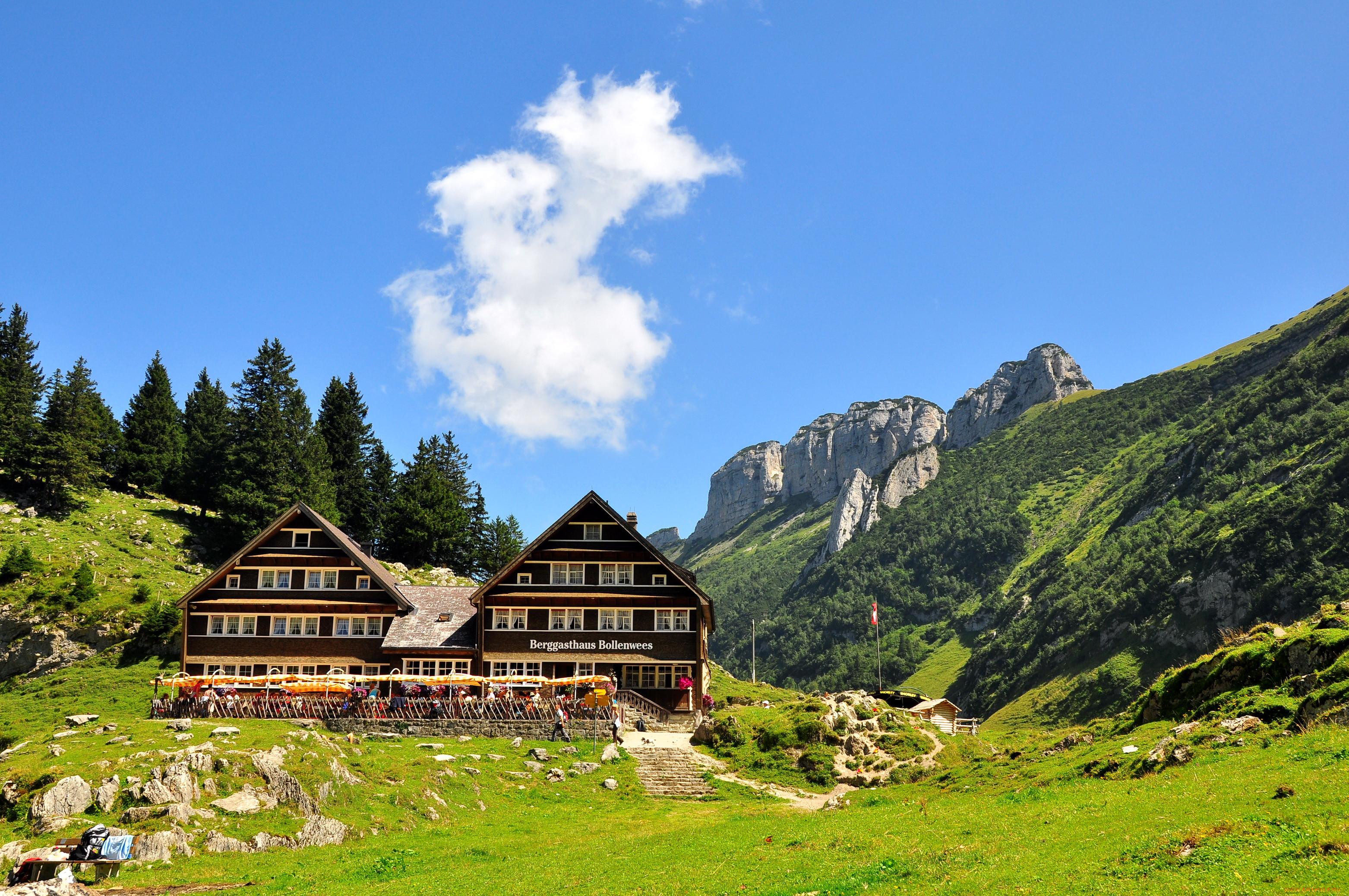 Обои дома, швейцария. Пейзажи foto 17